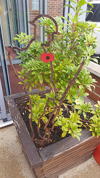 Maidstone Care Centre's (Maidstone) Garden Tommy taking pride of place in front of the care home.