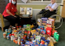 Romford Care Home Residents Support Local Families Through Food Donation Drive